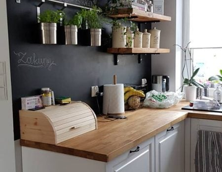 Kuchnie na wymiar – blat drewniany